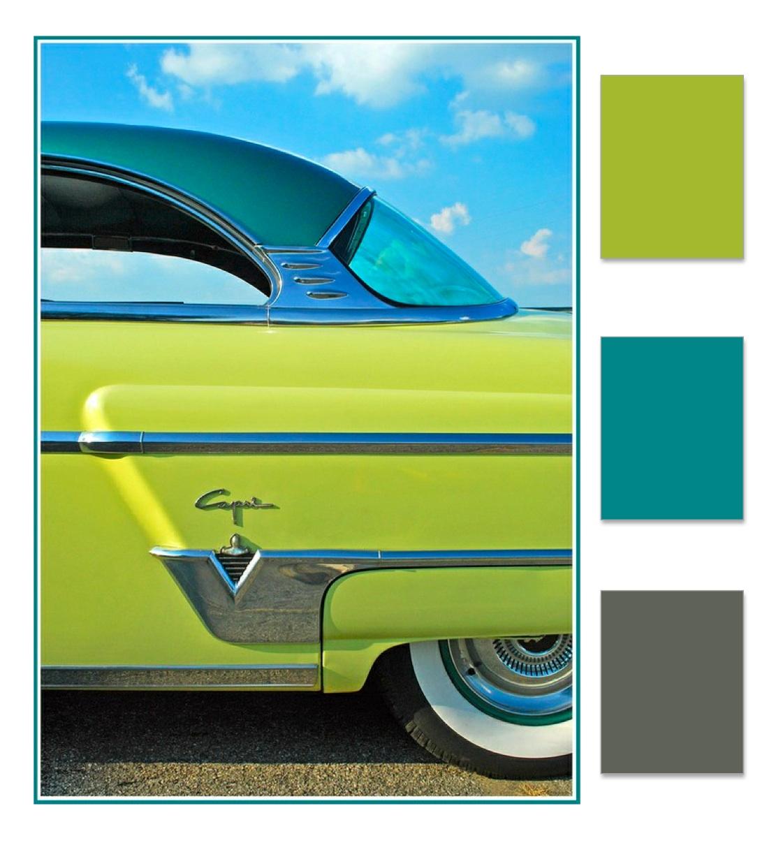 Vintage Car Color Scheme   Blushing Belles